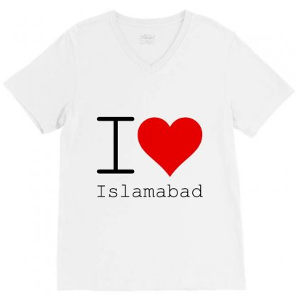 I Love Islamabad V-neck Tee Designed By Perfect Designers