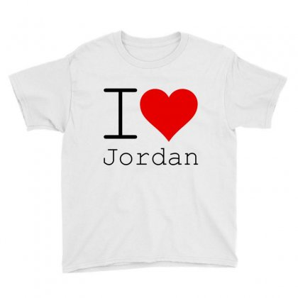 I Love Jordan Youth Tee Designed By Perfect Designers
