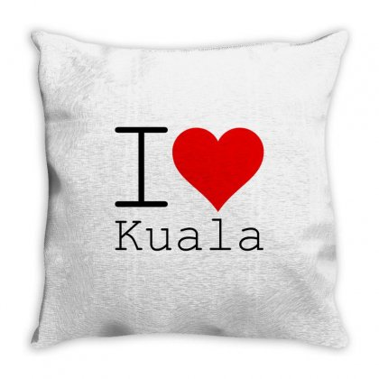 I Love Kuala Throw Pillow Designed By Perfect Designers