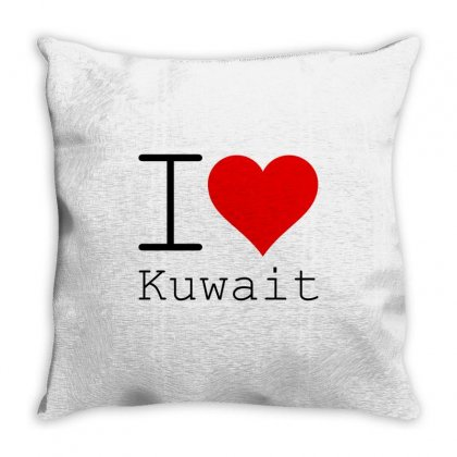 I Love Kuwait Throw Pillow Designed By Perfect Designers