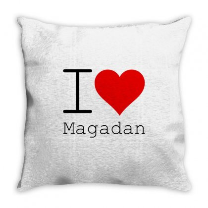 I Love Magadan Throw Pillow Designed By Perfect Designers