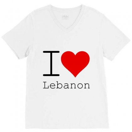 I Love Lebanon V-neck Tee Designed By Perfect Designers
