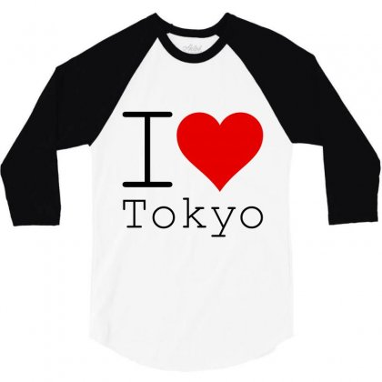 I Love Tokyo 3/4 Sleeve Shirt Designed By Perfect Designers