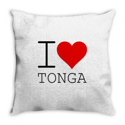 I Love Tonga Throw Pillow Designed By Perfect Designers