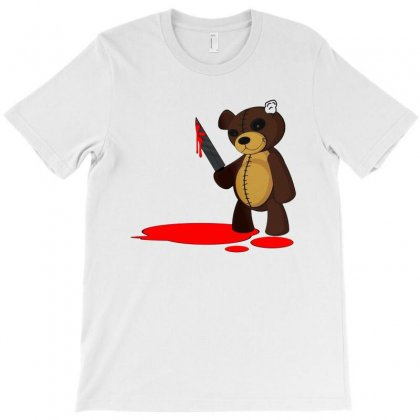 Psycho Teddy   Colour T-shirt Designed By Picisan75