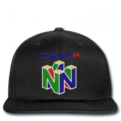 Japanese Nintendo 64 Embroidered Hat Snapback Designed By Madhatter