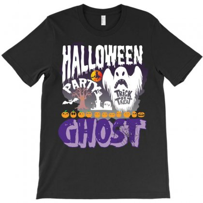 Halloween Party Ghost  Funny T Shirt T-shirt Designed By Hung