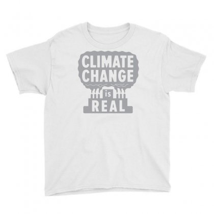 Climate Change Is Real Youth Tee Designed By Rahmatika