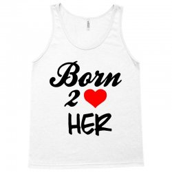 born to love her couple Tank Top | Artistshot