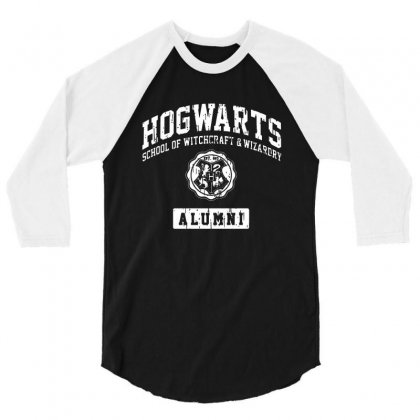 Hogwarts Alumni 3/4 Sleeve Shirt Designed By Syakirra