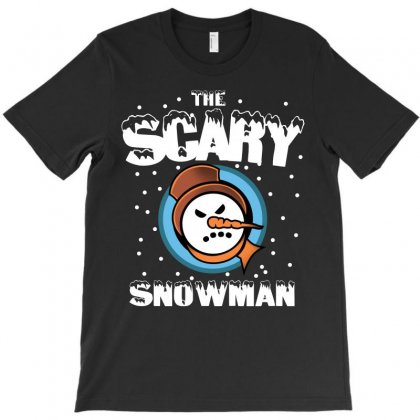 The Scary Snowman T-shirt Designed By Leodrolic