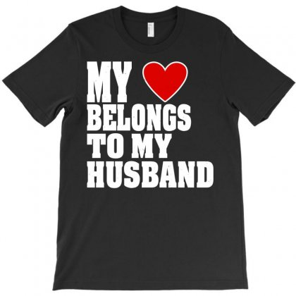 My Heart Belongs To My Husband T-shirt Designed By Leodrolic
