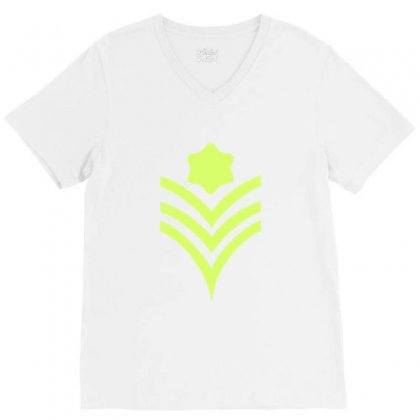 Rank V-neck Tee Designed By Ahmeddahysaad18