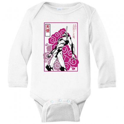 Eva Robot Long Sleeve Baby Bodysuit Designed By Paísdelasmáquinas