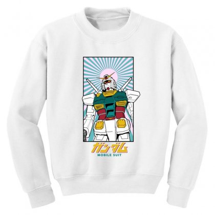 Gundam  Mobile Suit Youth Sweatshirt Designed By Paísdelasmáquinas