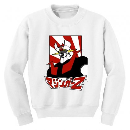 Mazinger Z Youth Sweatshirt Designed By Paísdelasmáquinas