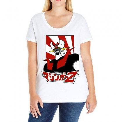 Mazinger Z Ladies Curvy T-shirt Designed By Paísdelasmáquinas