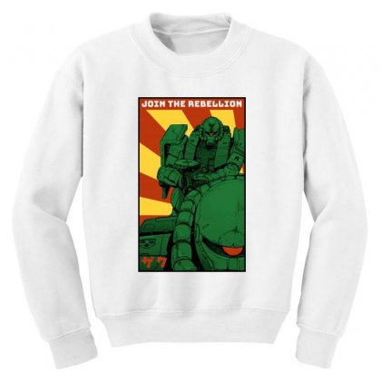 Zaku Gundam Youth Sweatshirt Designed By Paísdelasmáquinas