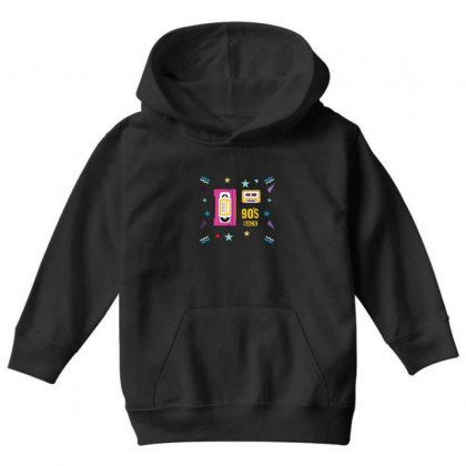 Back To 90's Youth Hoodie Designed By Emardesign