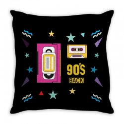 back to 90's Throw Pillow | Artistshot