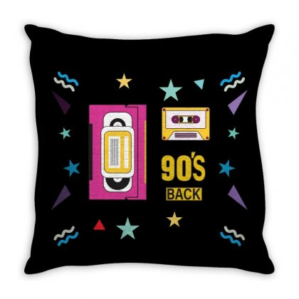 Back To 90's Throw Pillow Designed By Emardesign