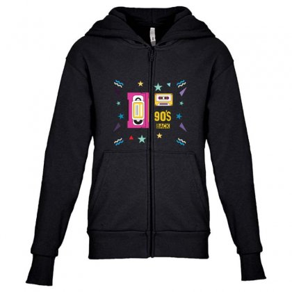 Back To 90's Youth Zipper Hoodie Designed By Emardesign