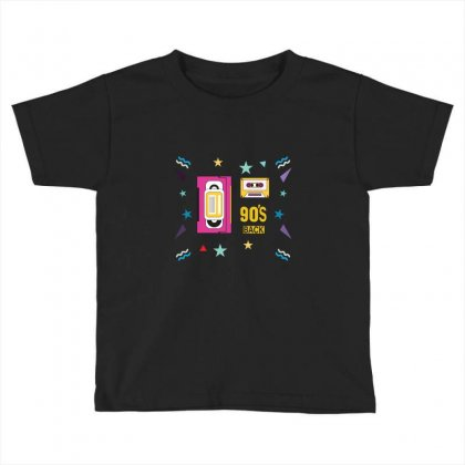 Back To 90's Toddler T-shirt Designed By Emardesign