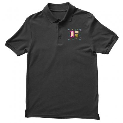 Back To 90's Men's Polo Shirt Designed By Emardesign