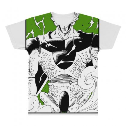 Perfect Cell All Over Men's T-shirt Designed By Paísdelasmáquinas