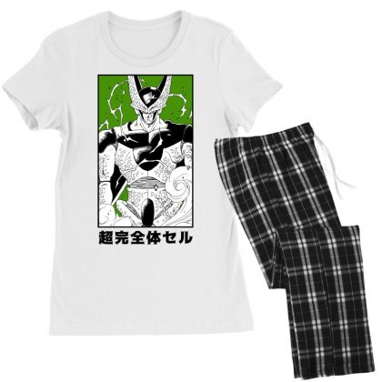 Perfect Cell Women's Pajamas Set Designed By Paísdelasmáquinas