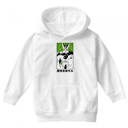 Perfect Cell Youth Hoodie Designed By Paísdelasmáquinas