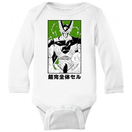 Perfect Cell Long Sleeve Baby Bodysuit Designed By Paísdelasmáquinas