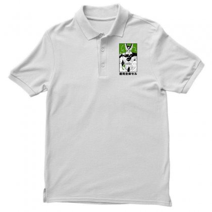 Perfect Cell Men's Polo Shirt Designed By Paísdelasmáquinas