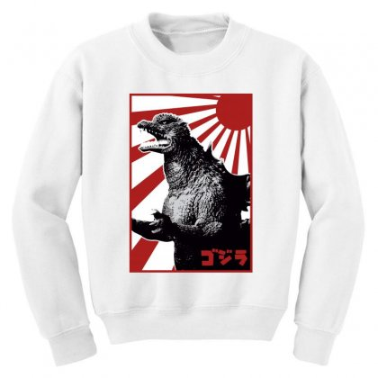 Godzilla 1 Youth Sweatshirt Designed By Paísdelasmáquinas