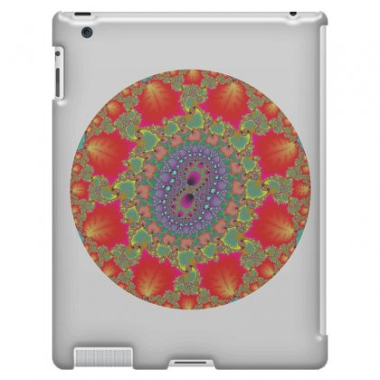 Double Leaf Center Fractal Ipad 3 And 4 Case Designed By Zykkwolf
