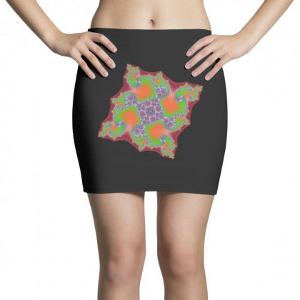 Square Fractal Spiral Mini Skirts Designed By Zykkwolf