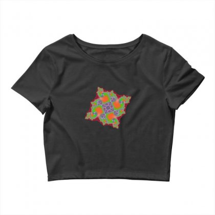 Square Fractal Spiral Crop Top Designed By Zykkwolf