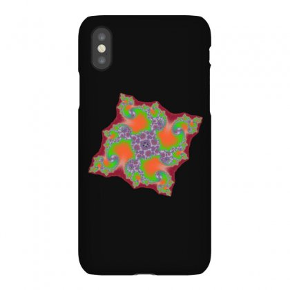 Square Fractal Spiral Iphonex Case Designed By Zykkwolf