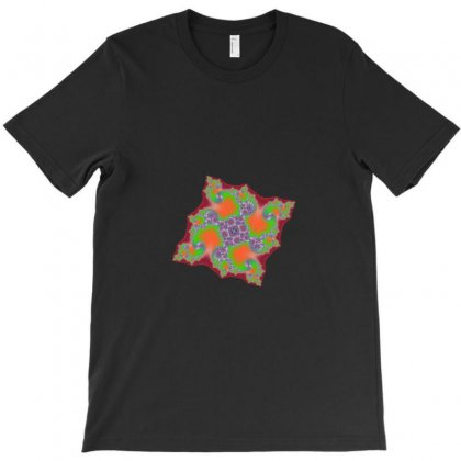 Square Fractal Spiral T-shirt Designed By Zykkwolf