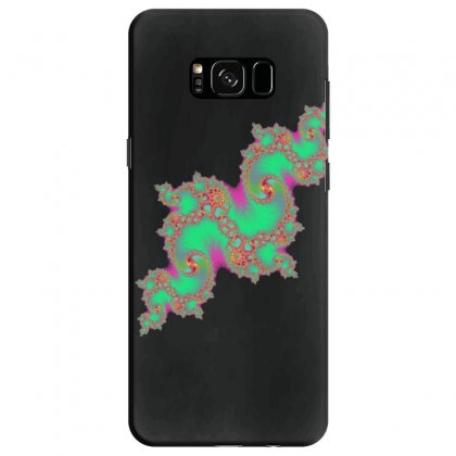 Fractal Green Cloud Samsung Galaxy S8 Case Designed By Zykkwolf