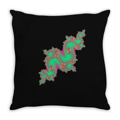 Fractal Green Cloud Throw Pillow Designed By Zykkwolf