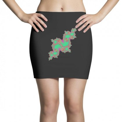 Fractal Green Cloud Mini Skirts Designed By Zykkwolf