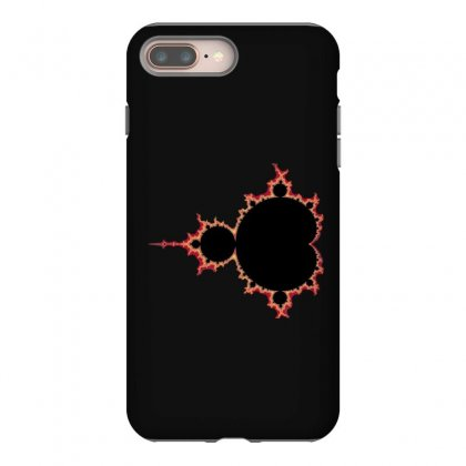Mandelbrot Fractal Red And Black Iphone 8 Plus Case Designed By Zykkwolf