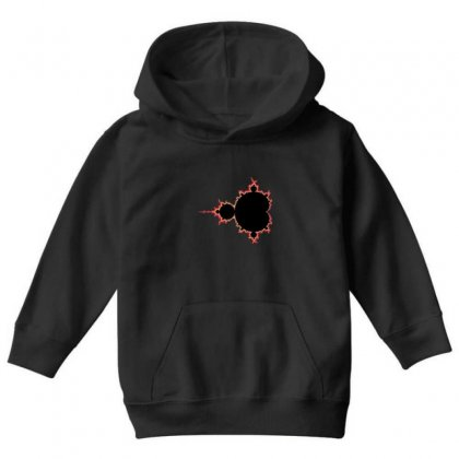 Mandelbrot Fractal Red And Black Youth Hoodie Designed By Zykkwolf
