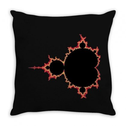 Mandelbrot Fractal Red And Black Throw Pillow Designed By Zykkwolf