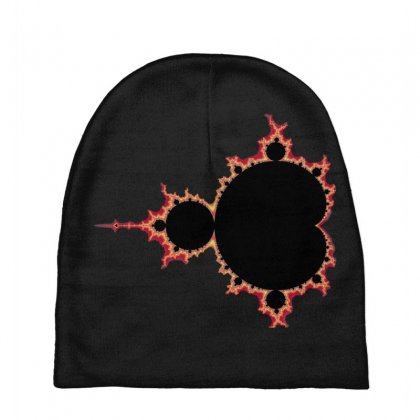 Mandelbrot Fractal Red And Black Baby Beanies Designed By Zykkwolf
