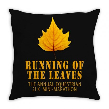 Running Of The Leaves Throw Pillow Designed By Gurkan