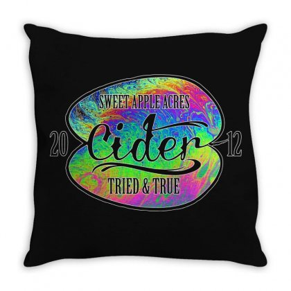 Sweet Apple Acres' Cider Throw Pillow Designed By Gurkan