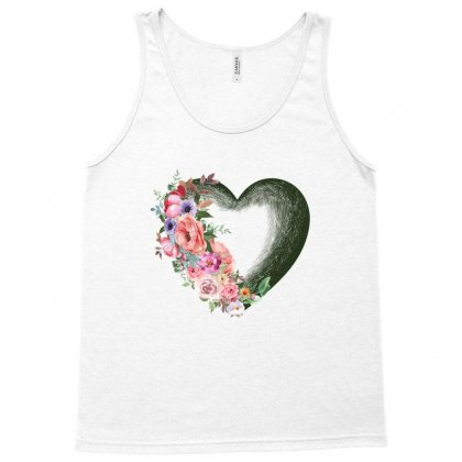 Heart With Flower Tank Top Designed By Ofutlu