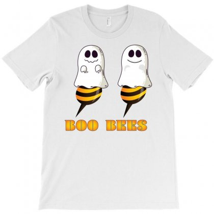 Boo Bees Couples Halloween Costume Funny T-shirt Designed By Omer Acar